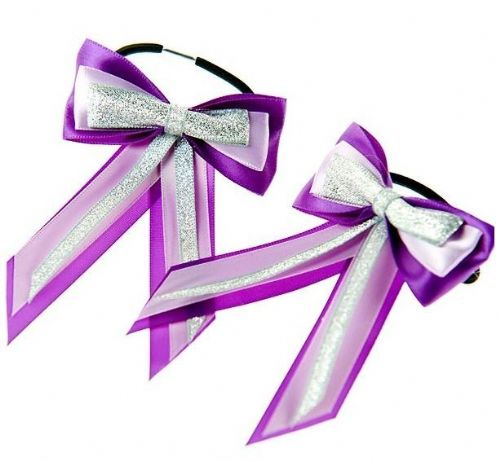 ShowQuest Piggy Bow & Tails in Purple/Lilac/Silver
